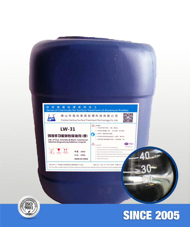 LW-31 Eco-friendly & Multi-functional Alkaline Degreasing Additive (Liquid)